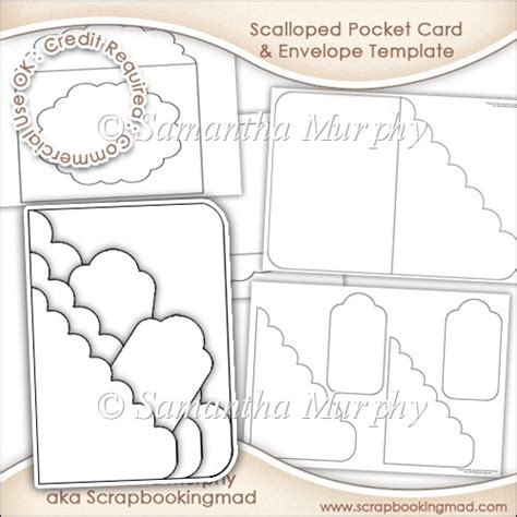 Prescribing Pocket Card Template by Scalloped Pocket Card Envelope Template Commercial Use