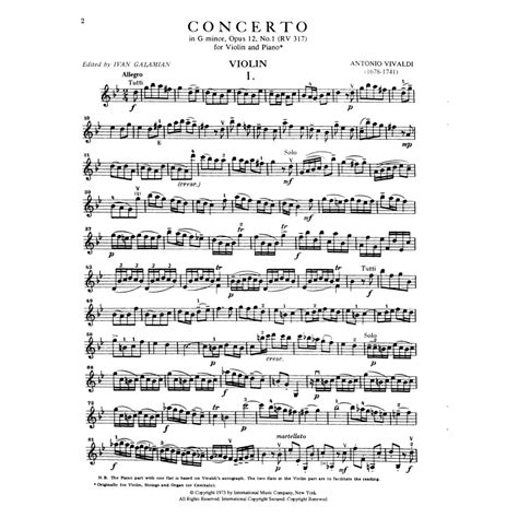 0014117541 piano concerto no g minor vivaldi antonio concerto in g minor op 12 no 1 rv 317