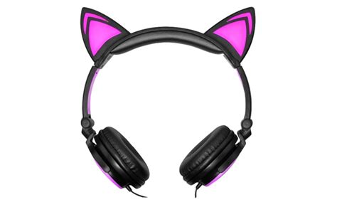 light up cat ear headphones 85 on jamsonic light up cat headphones livingsocial