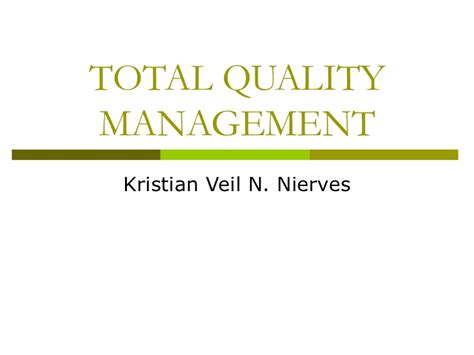 Total Quality Management Pdf For Mba by Total Quality Management Report
