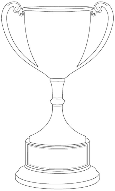 trophy card template this might be for a minimalist trophy that sat in a