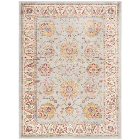 4 x 5 area rugs safavieh sevilla silver ivory 4 ft x 5 ft 7 in area rug sev811f 4 the home depot