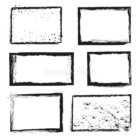 grunge frame vector stock vector illustration of drawings card 3736909 grunge distressed ink vector image border frames stock vector illustration of