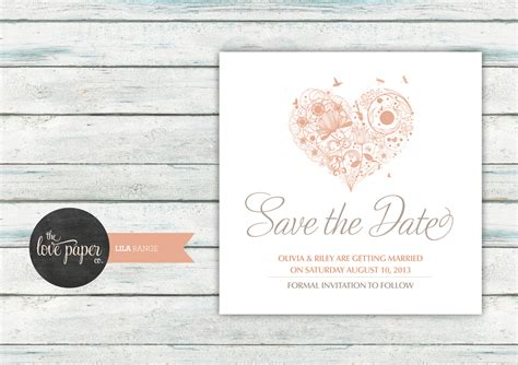 the range wedding invitations save the date card digital printable file lila wedding range wedding invitation on luulla