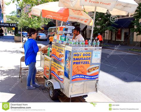 buy a puppy nyc new york and pretzel stand editorial stock image image 20519089