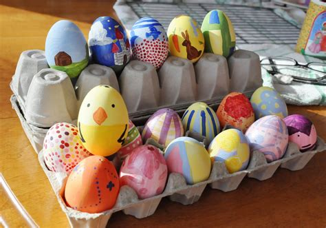 egg painting after school club with