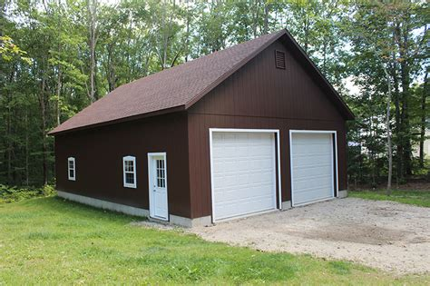Stick Built Garage by Stick Built Residential Garages In Maine