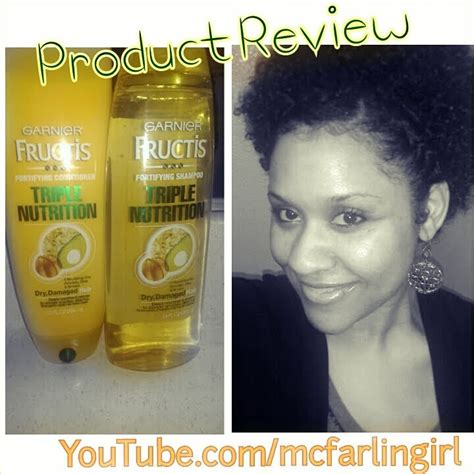 Garnier Fructis Hair Face Skin Oil African American Black Hair | natural hair review of garnier fructis triple nutrition