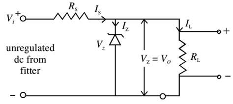 zener diode negative voltage regulator zener diode as voltage regulator study page