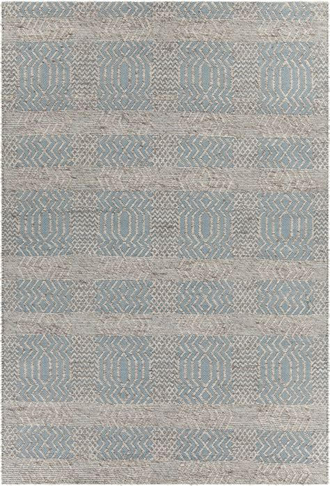 nature pattern area rugs salona collection hand woven area rug in blue natural