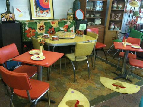 colorful kitchen tables vintage furniture