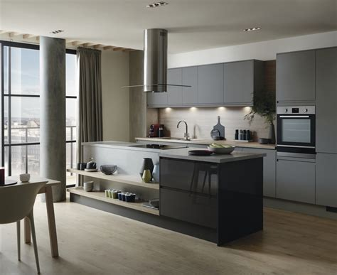 Black Island Kitchen by Clerkenwell Super Matt Slate Grey Kitchen Contemporary