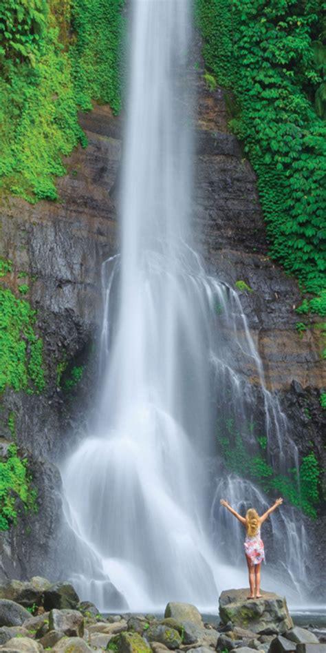gitgit waterfall bali amazing world pinterest