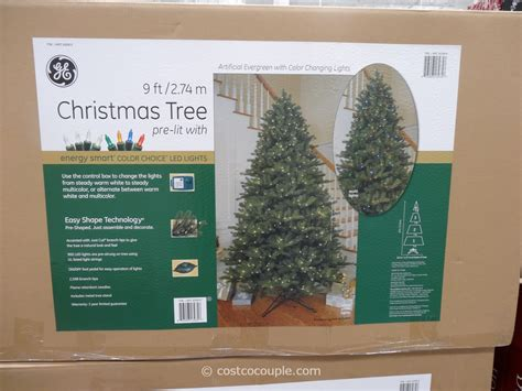 9 ft costco christmas tree ge 9 ft prelit led tree