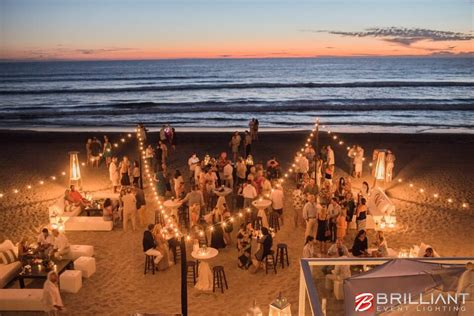 Draping A Tent Beach Wedding Lighting In San Diego