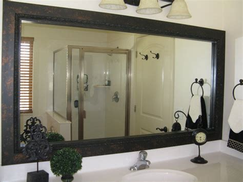 frame around mirror in bathroom bathroom mirror frame mirror frame kit black mirror