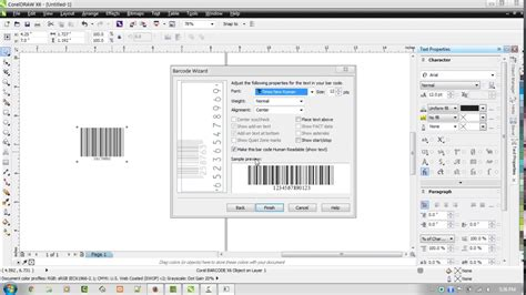 membuat barcode di corel x7 cara membuat barcode by corel draw versi on the spot