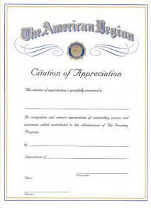 American Legion Letterhead Template by Boy Scout Citation Of Appreciation American Legion Flag