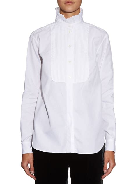 ruffle collar shirt www imgkid the image kid has it