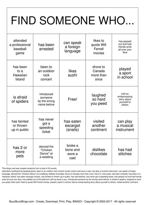 getting to know you bingo cards to download print and