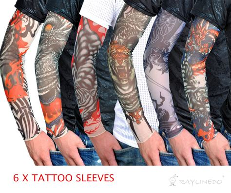6 pack tattoo arm sleeve costume promotion shop for promotional