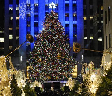 nueva york recibe la navidad con iluminaci 243 n del abeto del