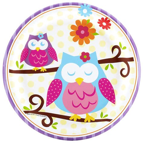 Elmo Cake Decorations Owl Blossom Dessert Plates This Party Started