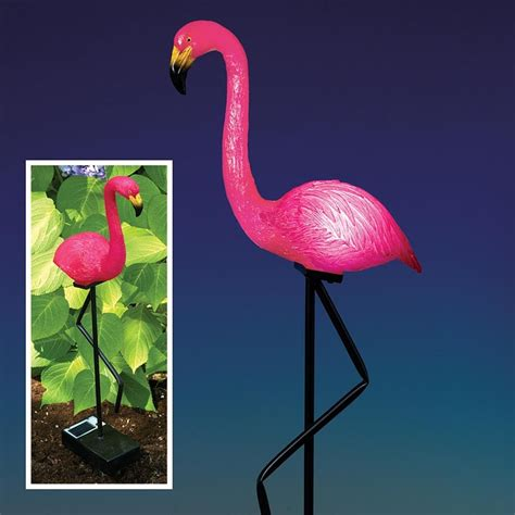 best 28 light up pink flamingo metal light up flamingo