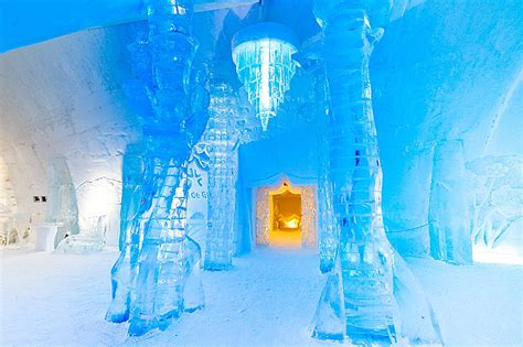 hotel de glace canada quebec s hotel de glace ice castle takes guests on a