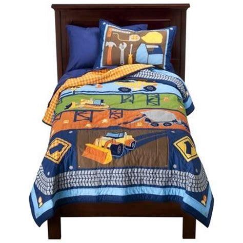 construction comforter set boys construction vehicles twin quilt sham bedding set
