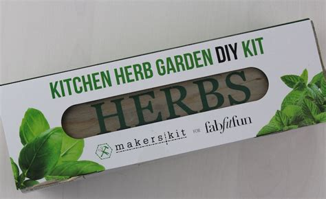 Kitchen Herb Garden Kit Singapore Fabfitfun 2016 Subscription Box Review 10 Coupon