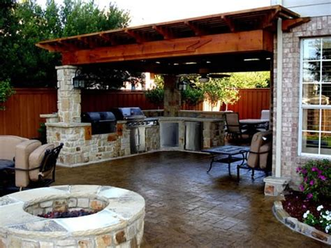 back yard kitchen ideas custom pergolas paradise outdoor kitchens outdoor