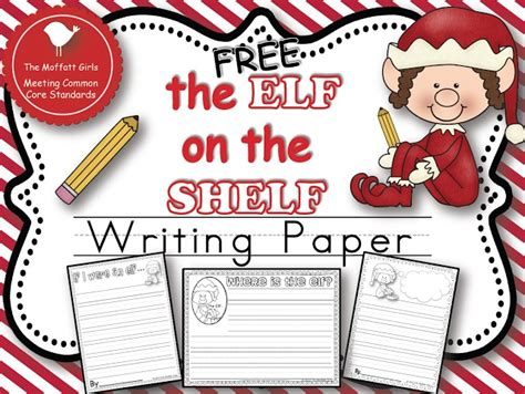 writing papers elves and elf on the shelf on pinterest christmas learning day 6 freebie