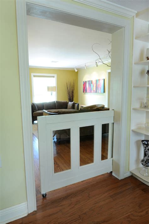 Sliding Screen Door With Dog Door Built In How Does The Sliding Half Door Work Is It On A Track Or