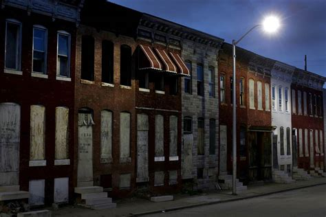 abandoned row houses in baltimore md the light is on but