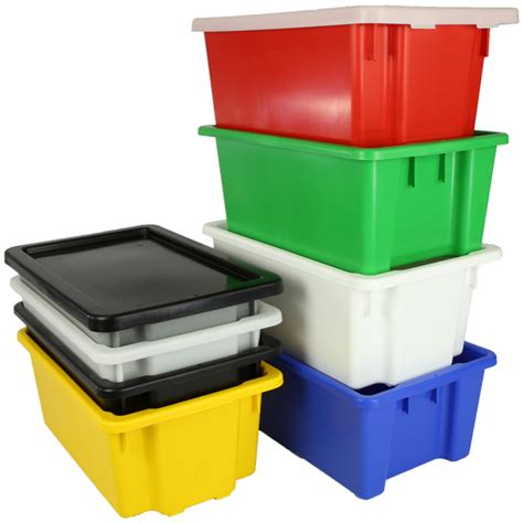 large food grade storage containers plastic nesting tote food grade storage containers