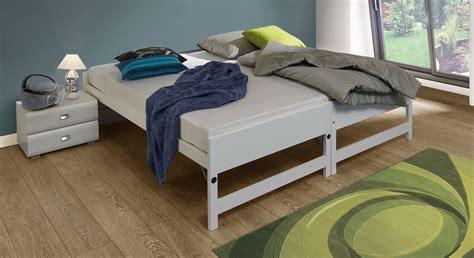 wandlen nachttisch bett ausklappbar zum doppelbett polsterbett doppelbett