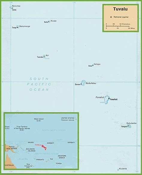 tuvalu on world map tuvalu political map