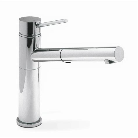 blanco kitchen faucets shop blanco alta chrome 1 handle handle deck mount pull