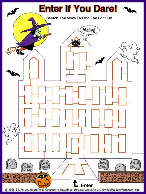 halloween maze printable easy 8 medium halloween maze printable