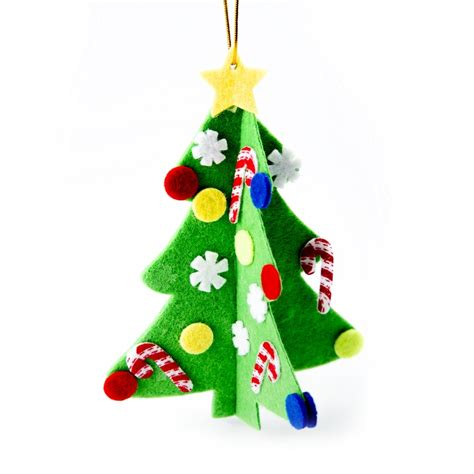 felt christmas tree hanging decoration kit makes 12