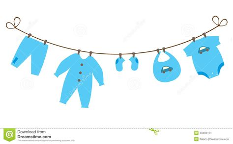 baby boy clothesline clipart