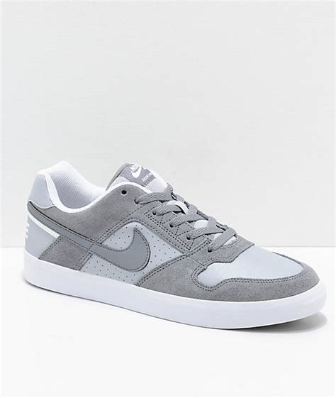 cool white sneakers nike sb delta cool grey white skate shoes zumiez