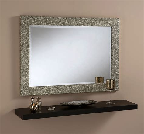 Spiegelrahmen Streichen by Sparkle Glitter Frame Bevelled Mirror In Gold 3 Sizes