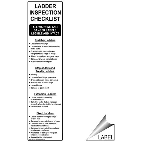ladder inspection template work environment ladder scaffold signs