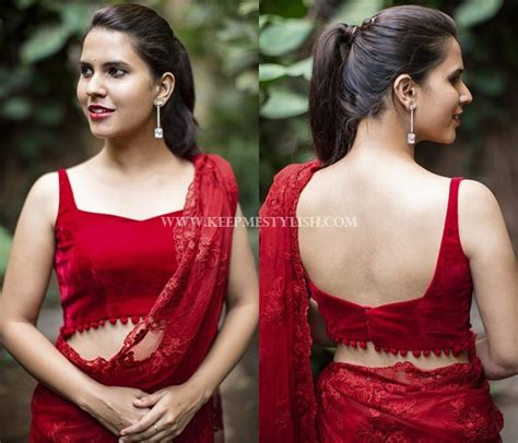 Plain Velvet Blouse plain sarees with designer blouse 40 creative ideas