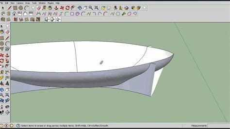 how to draw a boat hull in sketchup how to make a ship hull in sketchup youtube