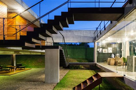 Outdoor Kitchen Design Center modern concrete house with two separate elevated buildings