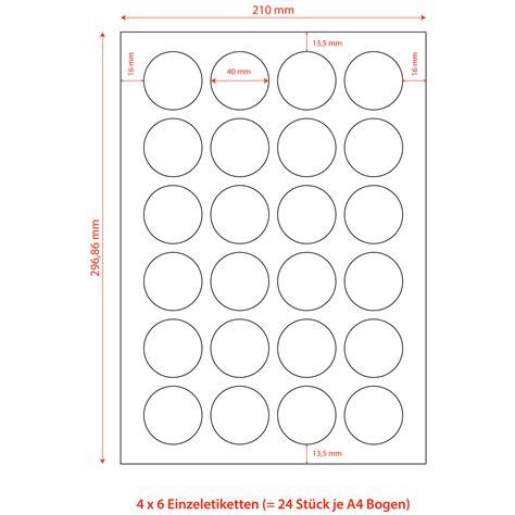 Etiketten Selbstklebend A4 by Etiketten Selbstklebend Wei 223 Rund Durchmesser 40mm Auf