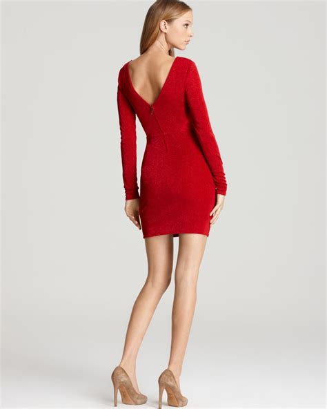 dress scarlet brukat gliter guess dress glitter in lyst